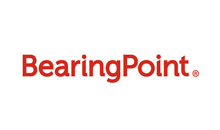 Bearing Point Logo. Client of Huntoffice Interiors