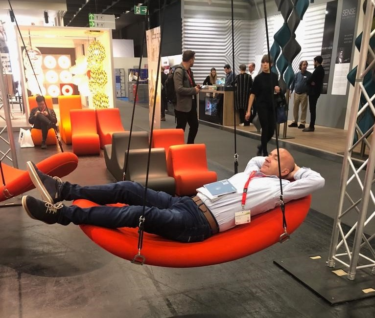 Eoin McCarthy from Huntoffice Interiors at Orgatec 2018
