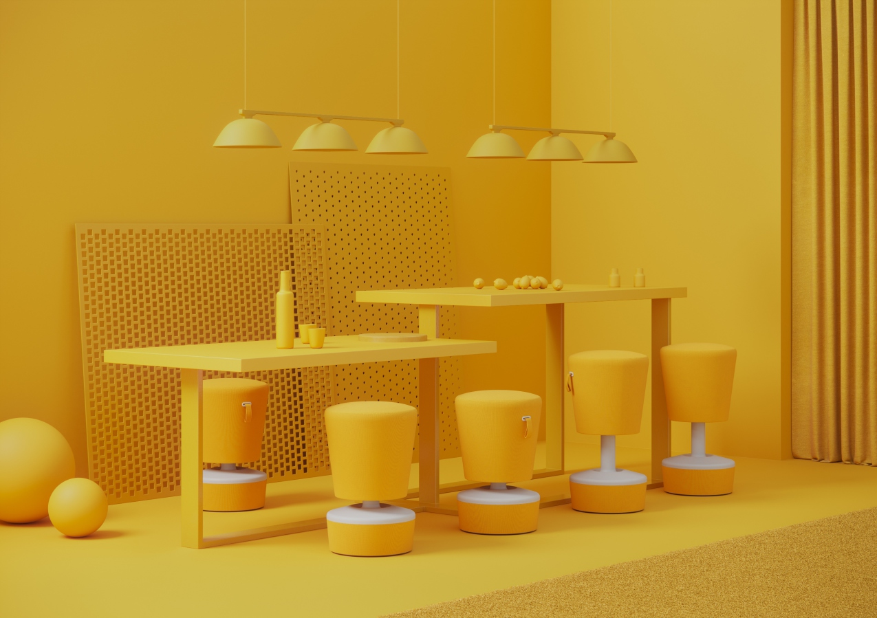 Profim Yellow at Orgatec